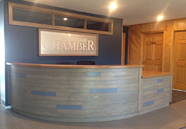 Superior Chamber of Commerce reception counter